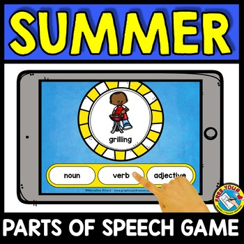 END OF THE YEAR ACTIVITY FIRST GRADE (SUMMER PARTS OF SPEECH GAME) BOOM CARDS