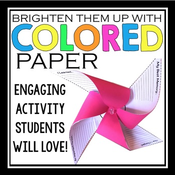 END OF THE YEAR ACTIVITY PENCIL PINWHEEL