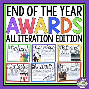 END OF THE YEAR AWARDS - ALLITERATION EDITION