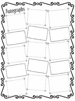 picture regarding Free Printable Autograph Pages named Stop Of The Calendar year Autograph Web site Worksheets Training