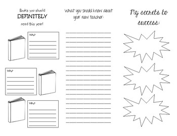 END OF THE YEAR BROCHURE - How to be successful in First Grade
