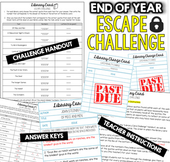 END OF THE YEAR Escape Room (Team Building Activities)