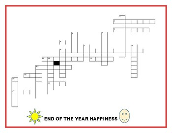 END OF THE YEAR HAPPINESS: A CROSSWORD PUZZLE