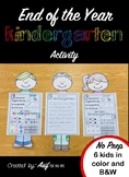 END OF THE YEAR - Kindergarten Activity/Project - What I l