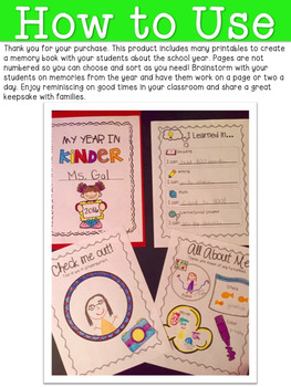 My School Year Memory Book: Printables for Little Learners