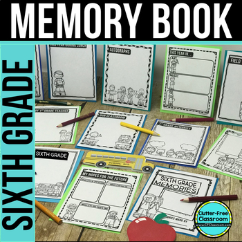 SIXTH GRADE MEMORY BOOK - 50% OFF TODAY ONLY