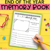 END OF THE YEAR ACTIVITIES Memory Book 2nd Grade PRINTABLE