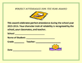 END OF THE YEAR AWARDS: PERFECT ATTENDANCE AWARD