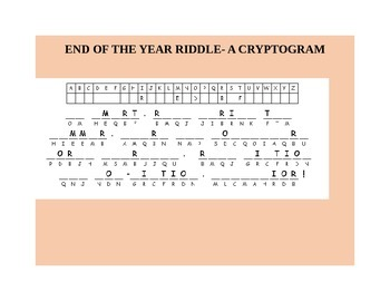 End Of The Year Riddles Worksheets & Teaching Resources | TpT