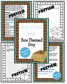 END OF THE YEAR - STEM Box Themed Day