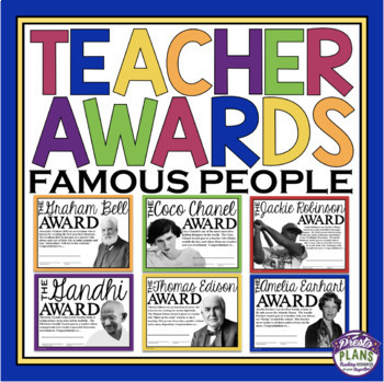 END OF THE YEAR AWARDS FOR TEACHER / STAFF MEMBER FAMOUS PEOPLE