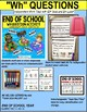 """END OF THE YEAR Task Cards - WH Questions for Autism """"Task Box Filler"""""""