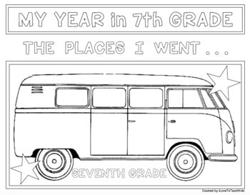EOY END OF THE YEAR TRAVELS for 7th SEVENTH GRADE Design Activities