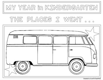 EOY END OF THE YEAR TRAVELS for KINDERGARTEN Design Activities