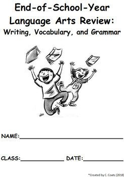 END OF YEAR ACTIVITIES - writing, vocabulary, grammar -- 10 worksheets -- summer