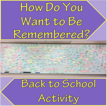 END OF YEAR ACTIVITY - HOW DO YOU WANT TO BE REMEMBERED?