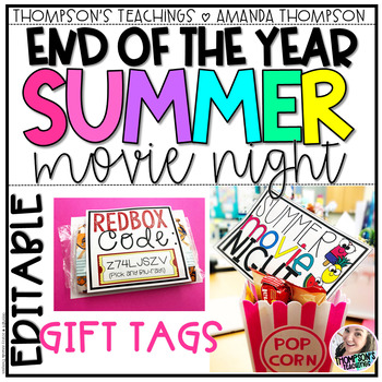 END OF YEAR AND SUMMER GIFTS- MOVIE NIGHT TAGS