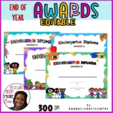 END OF YEAR AWARDS AND CERTIFICATES - KINDERGARTEN DIPLOMA - For KG Graduation