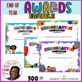 END OF YEAR AWARDS AND CERTIFICATES - KINDERGARTEN COMPLETION - KG Graduation