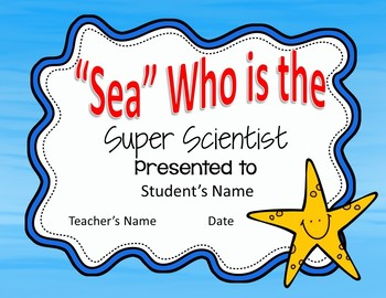 END OF YEAR AWARDS! (Editable Ocean Themed End of Year Awards!)
