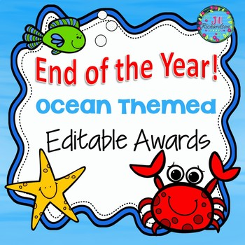 END OF YEAR AWARDS EDITABLE - OCEAN THEMED