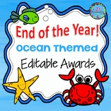 END OF YEAR AWARDS EDITABLE - OCEAN THEMED