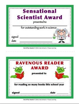 FUN END-OF-YEAR AWARDS      Grades 3-6