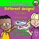 END OF YEAR Candy Bar Wrapper for Rising 4th Graders!