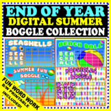 END OF YEAR DIGITAL SUMMER BOGGLE COLLECTION - FUN WORD WORK