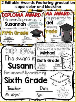 END OF YEAR EDITABLE DIPLOMA AWARDS