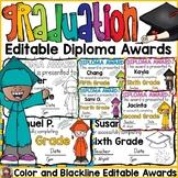 END OF YEAR EDITABLE DIPLOMA GRADUATION AWARDS