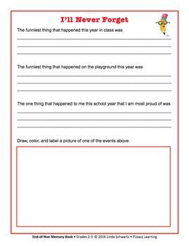 FUN END-OF-YEAR MEMORY BOOK • Grade 3