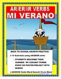 END OF YEAR- My Summer Vacation- Verbs Power Point/Poster Project with Rubric