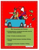 Distance Learning-SPANISH FAMILY SUMMER VACATION- Mis Vacaciones en Familia