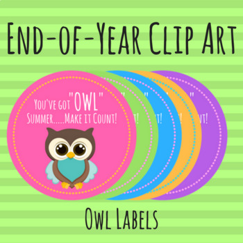 END OF YEAR -- Owl Labels / Tags
