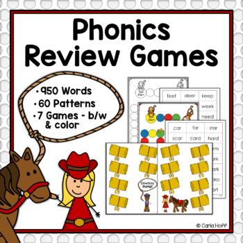 Phonics Review Games - Short & Long Vowels