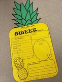 END OF YEAR Pineapple writing activity