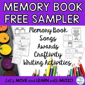 End of Year Songs, Games, Scrapbook Craftivity K-3