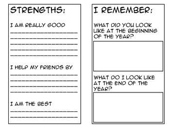 END OF YEAR Scrapbook Journal Template/Memory Book