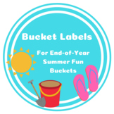 """END OF YEAR -- """"Summer Fun"""" Bucket Labels/Tags"""