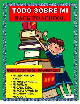 Back to School-ALL ABOUT ME IN SPANISH- PowerPoint-- SPANISH II