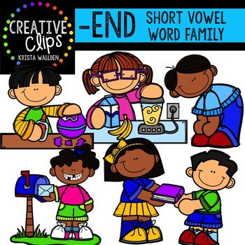 END Short E Word Family {Creative Clips Digital Clipart}