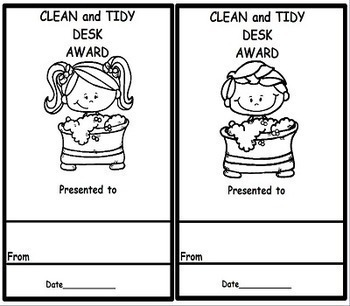 Classroom Awards 50 Black and White Awards for ALL Grades