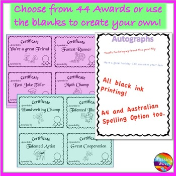 END of YEAR ACTIVITY Peer Certificates, Memory Book and Autographs