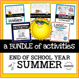END of YEAR / SUMMER Bundle of MATH CHALLENGES