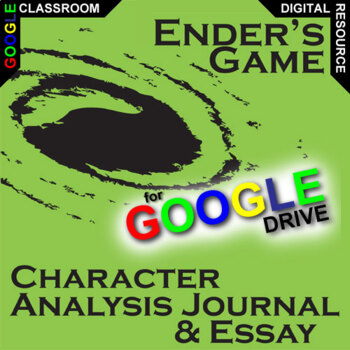 ENDER'S GAME Essay Prompts AND Character Analysis (Created for Digital)