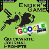 ENDER'S GAME Journal - Quickwrite Writing Prompts (Created
