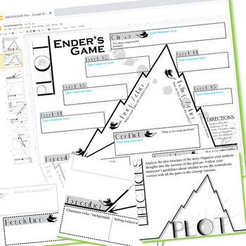 ENDER'S GAME Plot Chart Organizer Arc - Freytag (Created for Digital)