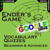 ENDER'S GAME Vocabulary List and Quiz Assessment (Created