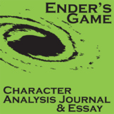 ENDER'S GAME - Character Analysis Packet and Essay Prompts